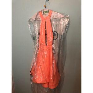 Aust. size 6 (xs) orange/neon Xenia party dress